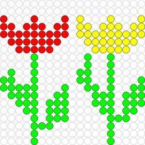 Kralenplank Lentebloemen
