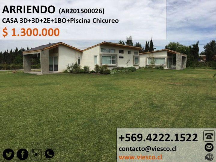 ARRIENDO CASA, más info   #viesco  #casa #arriendo #propiedades