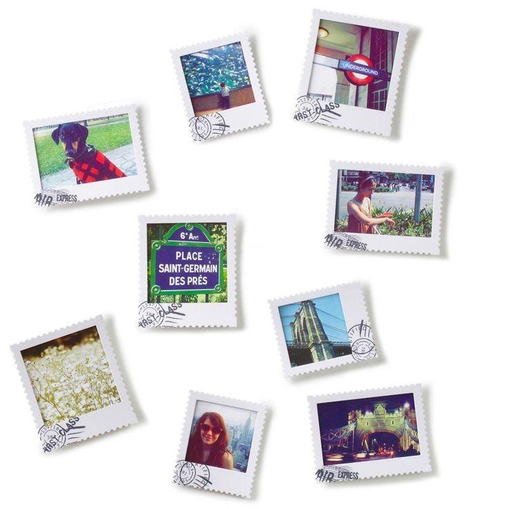 Portarretratos Postal De Pared Set X 9 Decoracion Novedad