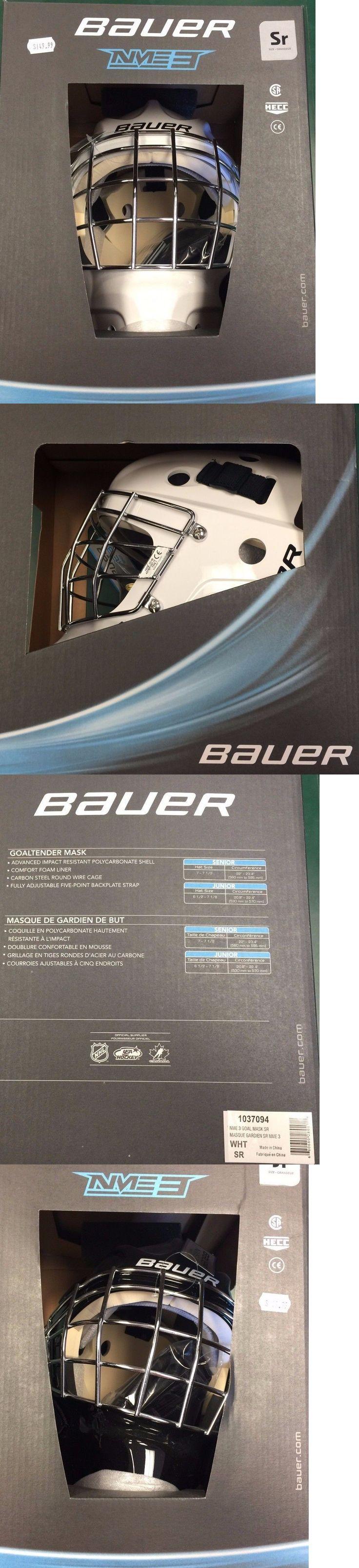 Face Masks 79762: Bauer Nme3 Goaltender Mask -> BUY IT NOW ONLY: $144.95 on eBay!