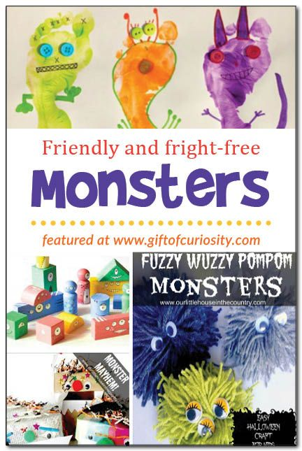 Not-so-scary monster crafts for kids to make and enjoy this #Halloween || Gift of Curiosity