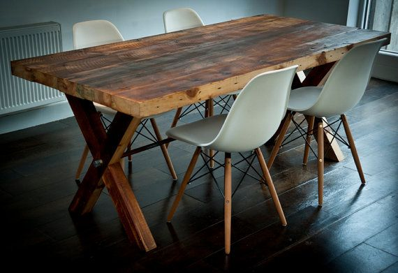 solid re-claimed wood dining table by BenmoreStudio on Etsy