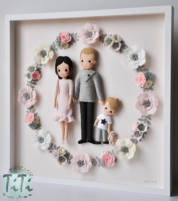 Framed Personalised Family portrait Picture box frame