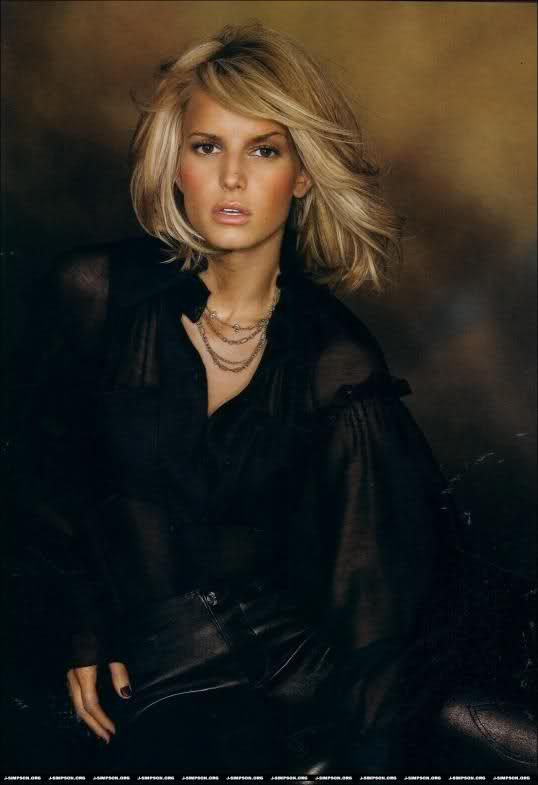 Jessica Simpson, Elle Magazine, August 2005. I love Jessica's hair like this.