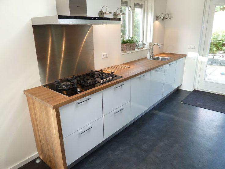 Witte Keuken Met Houten Werkblad : Meer dan 1000 Witte Houten Keukens op Pinterest – Wit Hout, Keuken