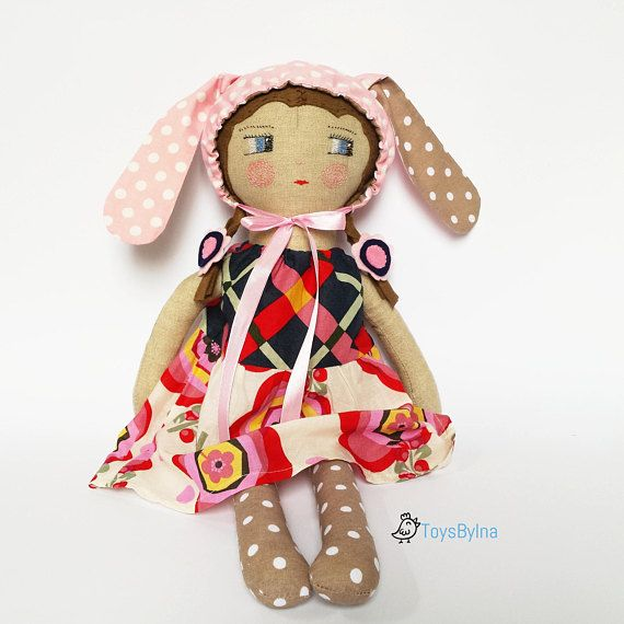 Rag doll  Heirloom doll  Handmade toy  Cloth doll  Fabric doll