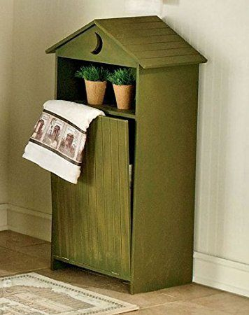 "Outhouse Wood Bathroom Laundry Hamper Distressed Sage 20""w X 12""d X 36 1/4""h"