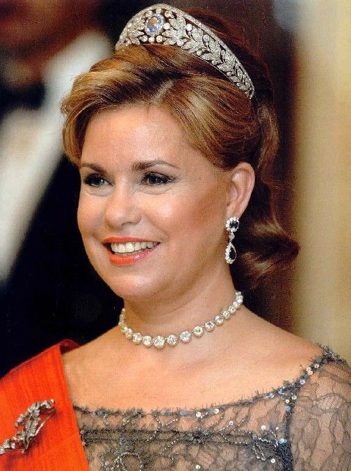 Nassau Tiara worn by Grand Duchess Maria Teresa of Luxembourg
