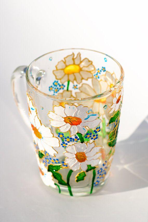 Daisy Mug Camomile Coffee Mug Personalized Grandma Gift Cup Floral In 2020 Mugs Coffee Mugs Personalized Grandma Gifts