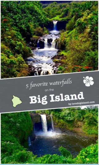 Top 5 #waterfalls on the Big Island. Our favorite waterfalls in the lush tropical rainforests of #hawaii