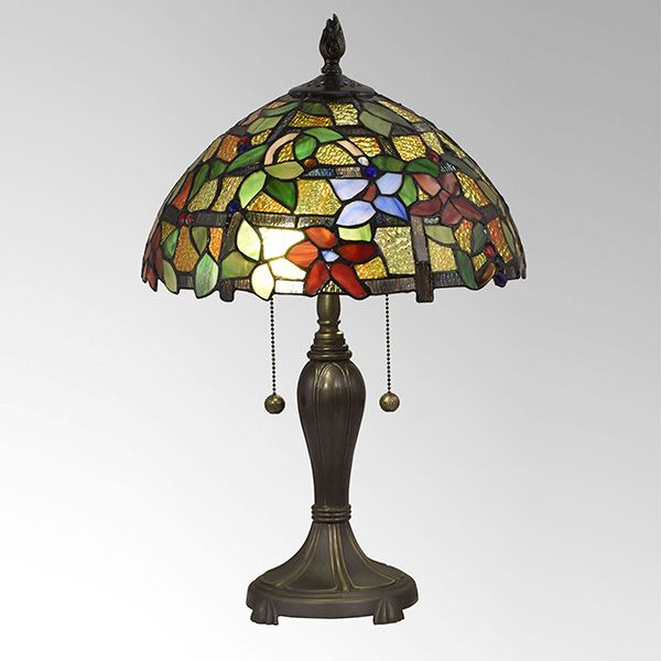 Valencia Floral Stained Glass Table Lamp By Dale Tiffany Tiffany Table Lamps Table Lamp Lamp Light