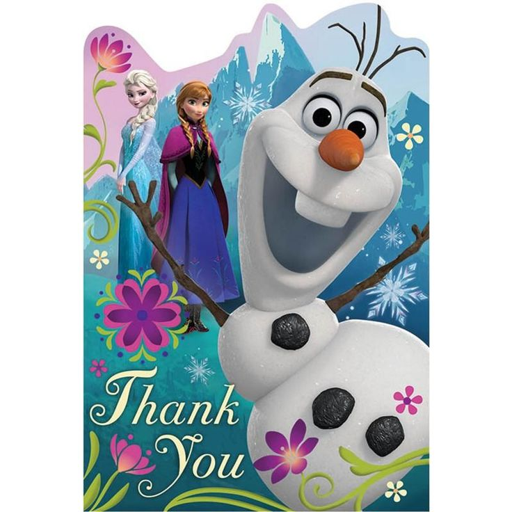 Disney Frozen Postcard Thank You Cards (8 Pack): every purchase through this link supports charity