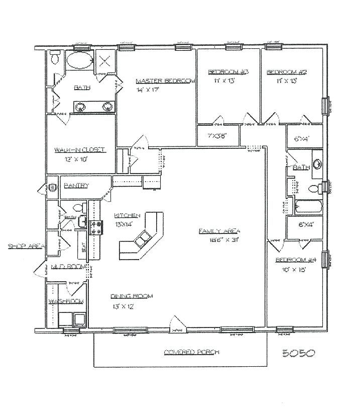 Image Result For Pole Barn Homes Floor Plan 5 Bedroom Building