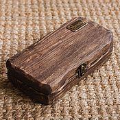 Купить или заказать Сундук деревянный 'Франкенштейн'. в интернет-магазине на Ярмарке Мастеров. Сундук деревянный. Две половины разных цветов, прошит шнуром из натуральной кожи. Ручки с деревянной основой обмотанной кожаным шнуром. Все стенки с глубокой брашировкой, получилась очень красивая и приятная на ощупь структура дерева. Покрыт защитным воском. Закрывается на замок. Можно и просто защелку Мой сундук зубастик участвует в конкурсе работ.
