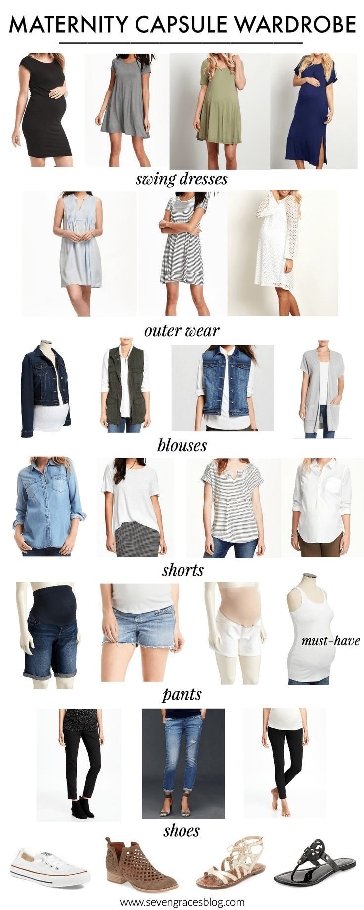 The ultimate maternity capsule wardrobe! This maternity capsule wardrobe walks the expectant mama through what she'll need to wear to create countless outfits for almost any season. Timeless pieces that will take you from the first trimester to postpartum days. This makes dressing the baby bump so easy. These pieces are the only you'll need!