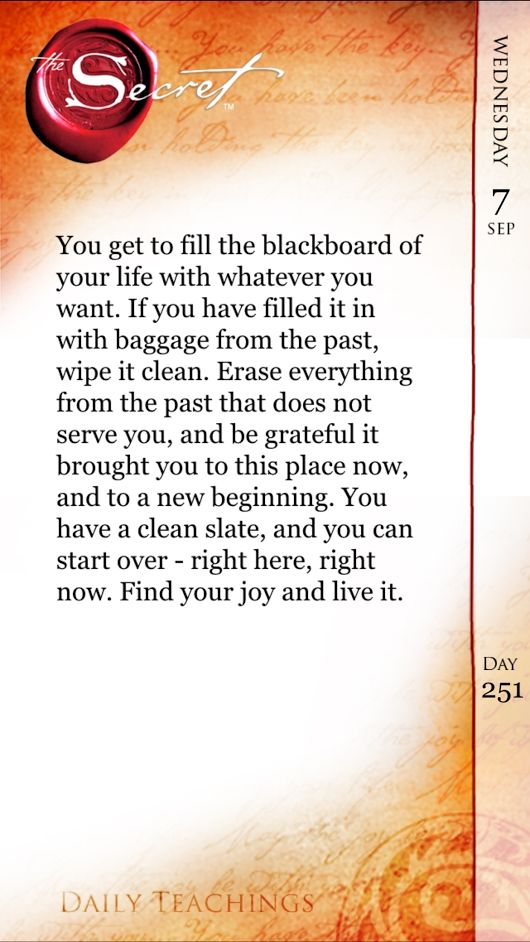 Begin With A Clean Slate…