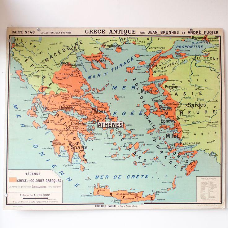 56 best Cartes anciennes images on Pinterest   Antique maps, Vintage school and French vintage