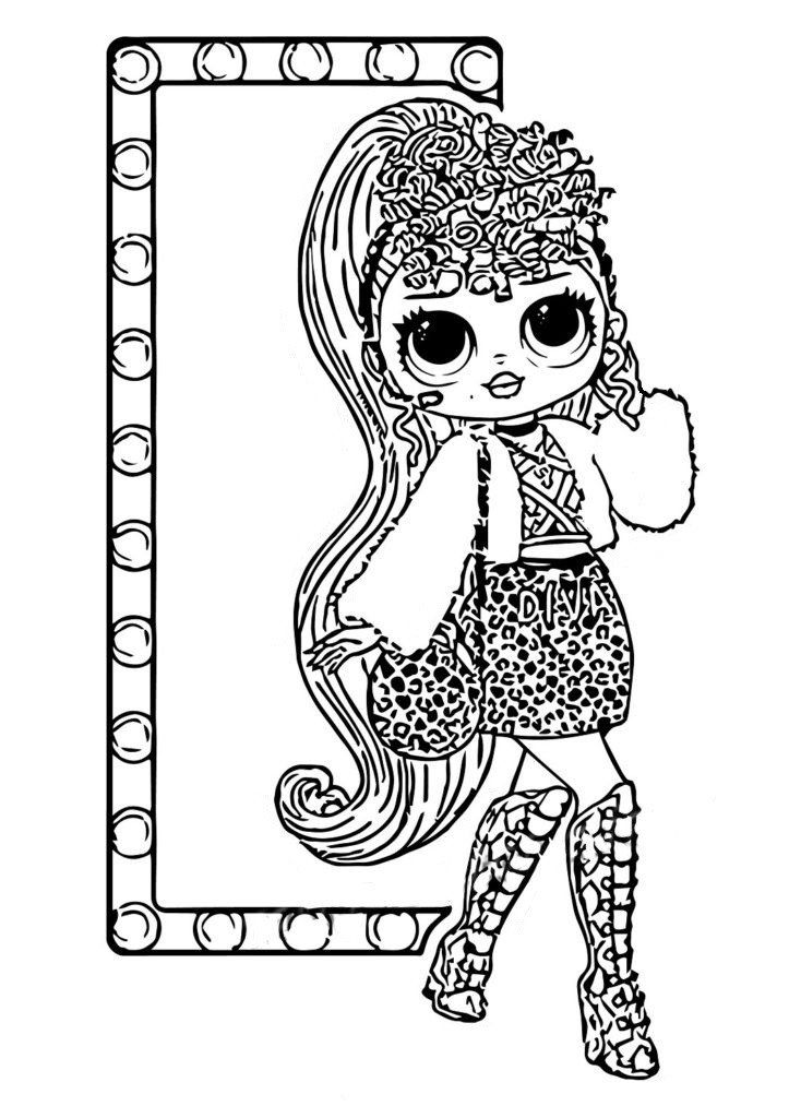 Ausmalbilder Lol Omg Drucken Sie Kostenlos Neue Puppen Horse Coloring Pages Owl Coloring Pages Animal Coloring Pages