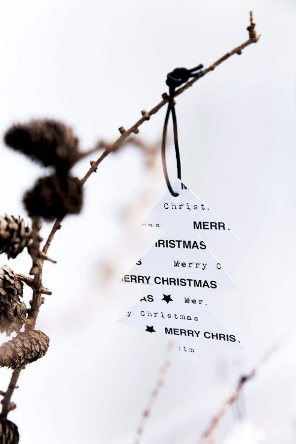diy svart och vit jul christmas julträd