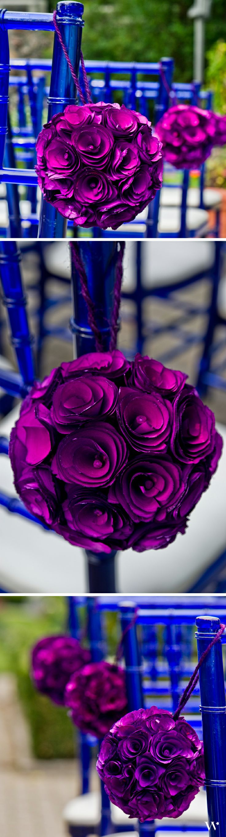 Lead your way down the aisle with grace and beauty when you style your ceremony with our Floral Pomander Balls: http://www.weddingstar.com/product/floral-pomander-ball-made-with-wood-curls