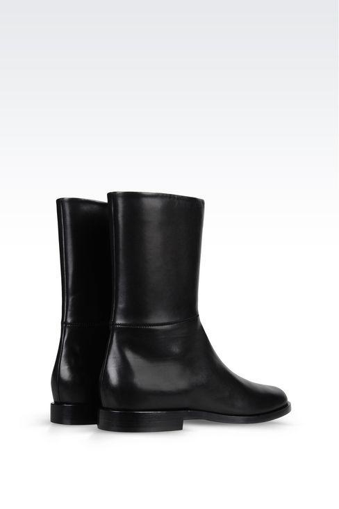 АРМЕЙСКИЕ БОТИНКИ ИЗ ТЕЛЯЧЬЕЙ КОЖИ: Ботинки Для Женщин by Armani - 3