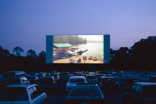 Can you imagine watching a movie in the back of your jeep?!