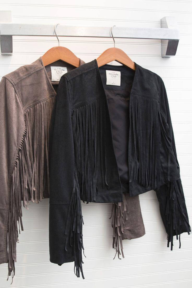 Suede Fringe Jackets | Festival Style | Abercrombie.com