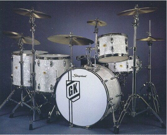 Another dream kit, played by a great one Gene Krupa...