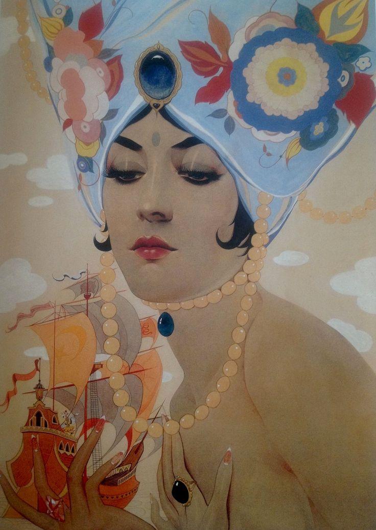 Scheherazade by Alberto Vargas, 1921.