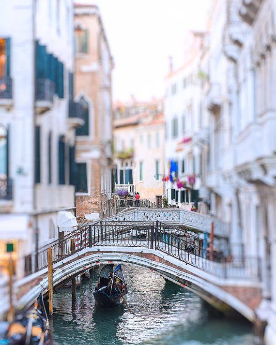 Venice Gondola Photo Venice Canal Bridge Photo by ItBeganInParis