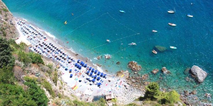 Beach of Duoglio, Amalfi on the Amalfi Coast  #AmalfiCoast #Amalfi #Italy #Beach #Duoglio