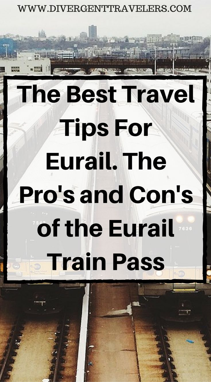 The best travel tips for Eurail. The Pro's and Con's of the Eurail train pass. From our two months of travel onEurail passes we have seen the gamut of  pass users. Knowing in advance how things work and the proper etiquette  for using a pass like this will save you some headache and possible  embarrassment along the way. Some are standard tips, hints and tricks  for train travel and some are just basic words of advice to make your  Eurail adventure easer with less issues. Click to read…