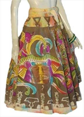Hand Painted 50s Mexican Skirt: Hands Paintings, Vintage 1950S, 1950S Circles, Mexicans Skirts, Mexicans Hands, Mexicans Circles, Circles Skirts, Vintage Clothing, 1950S Mexicans