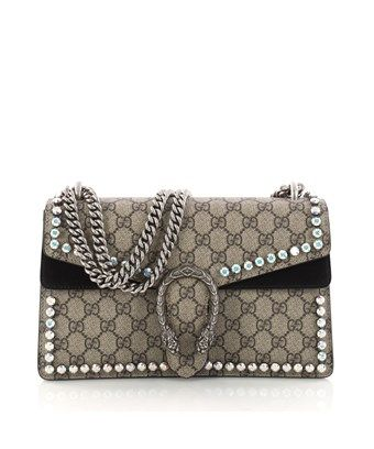 7a6cd3166c1 GUCCI PRE-OWNED  DIONYSUS HANDBAG CRYSTAL EMBELLISHED GG COATED CANVAS SMALL.   gucci  bags  crystal  canvas