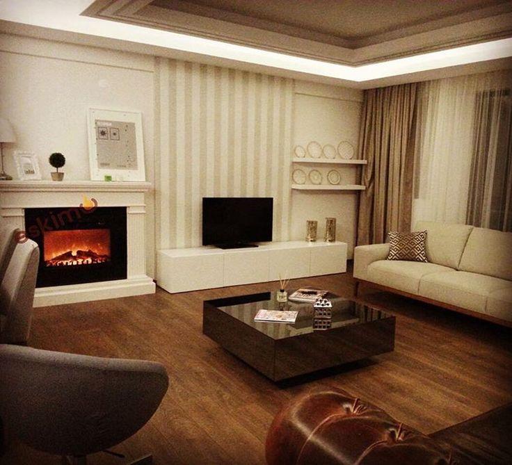 Samsun - Atakum #şömine #dekorasyon #fireplace #home #room #luxury #decoration #homestyling #homefashion #şık #ev #mekan #beyaz #sade #house #style #evimiseviyorum #evimgüzelevim