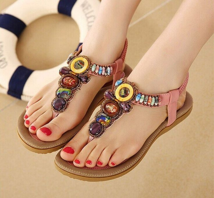 Ladies Summer Gladiator Flat Sandals