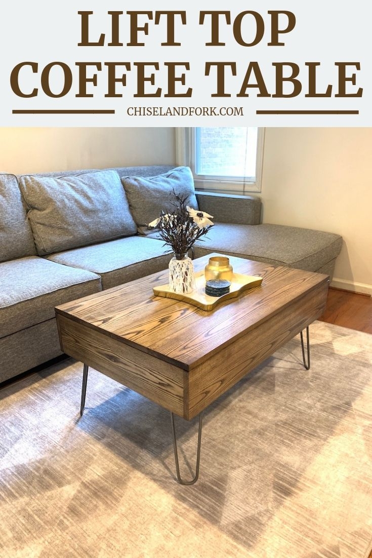 Diy lift top coffee table stepbystep instructions