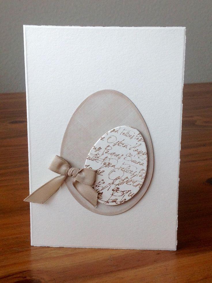 Osterkarte mit Stempel von Alexandra Renke, Stanze Sizzix