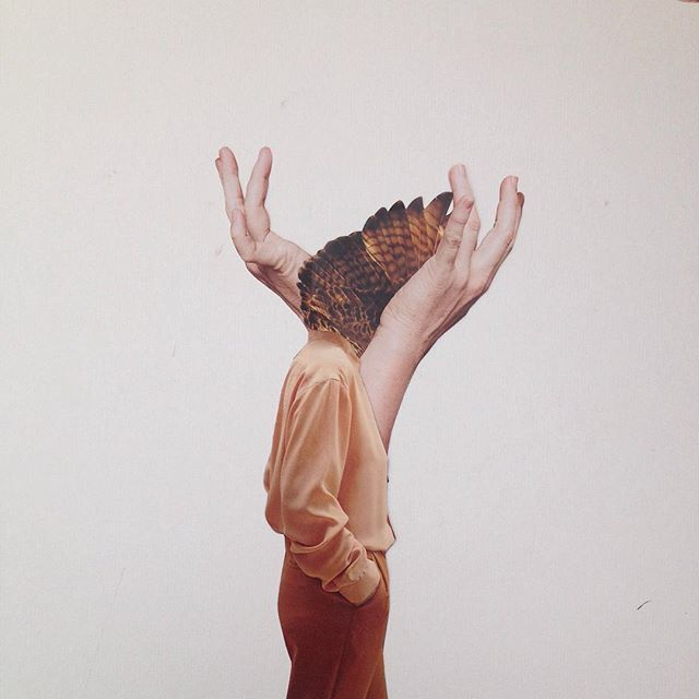 Nicola Kloosterman HEART HEAD HANDS // handmade collage on paper.