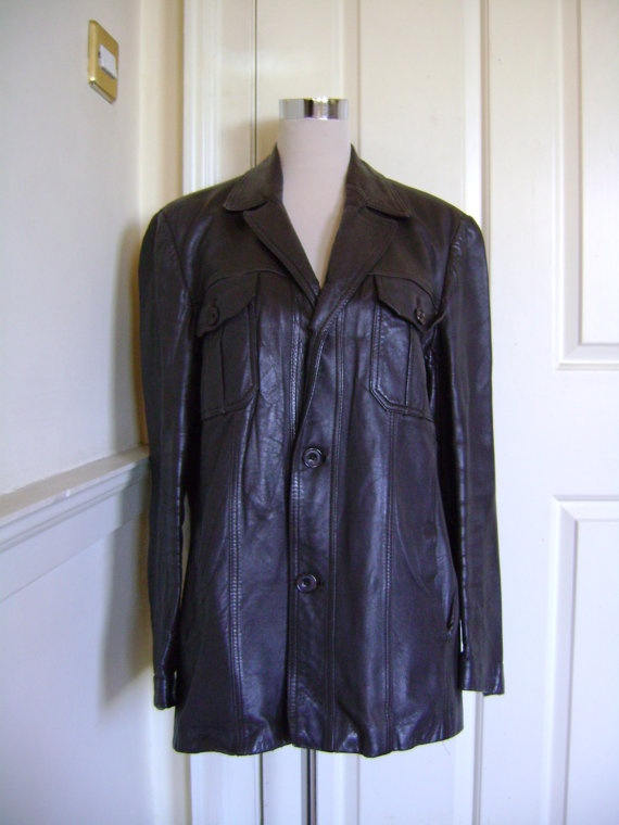 Original Steve McQueen-style 60s men's brown leather jacket, £65.00, https://www.etsy.com/listing/109823781/original-steve-mcqueen-style-60s-mens