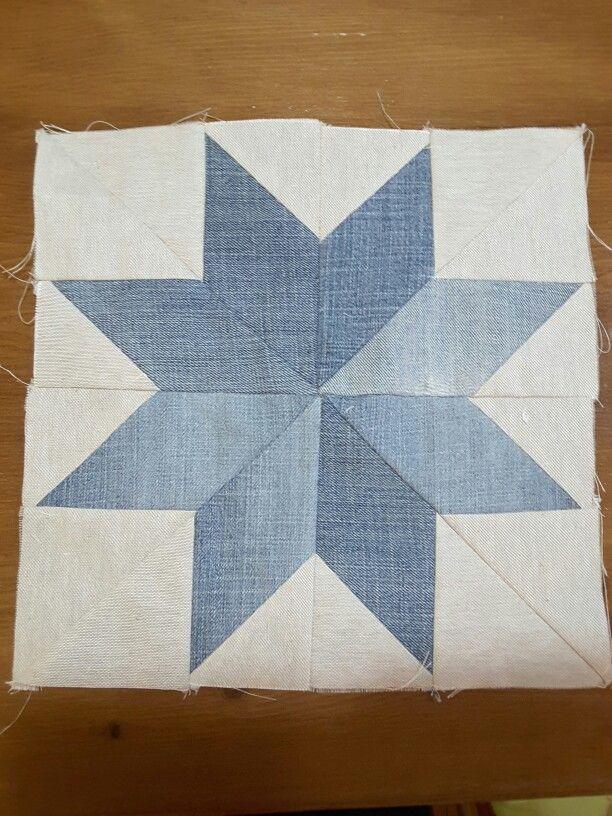 Indigo star quilt