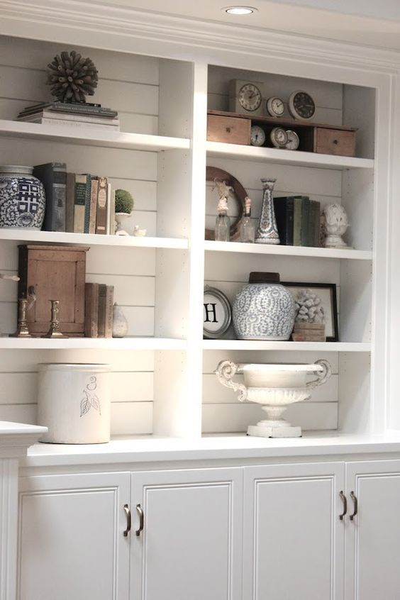 Thanks to the wildly popular TV show Fixer Upper, Chip & Joanne Gains have  made shiplap the hottest trend in home design, and I'm totally digging  it.Check out a dozen of my favorite ideas on how to utilize shiplap in  your space!BathroomsShiplap look so crisp and clean when used in a  bathroom.  Paint a Deep Color  And who says shiplap has to be white?! This black paneled wall is so  sophisticated.  Bedroom walls  Create a serene and tranquil bedroom with shiplap walls.  Create a...