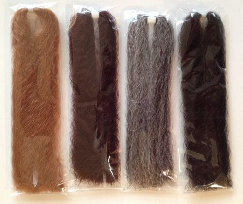 LOT NEW EP/Congo-like Synthetic Wave Fly Tying & Jig Hair fiber 4pk w/gry (lot4)