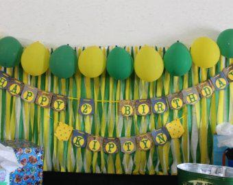 Tractor cumpleaños nombre Barrner