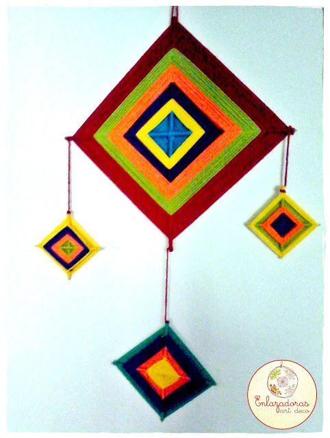 Enlazadoras Art Deco: Tejido Huichol :: Ojo de Dios