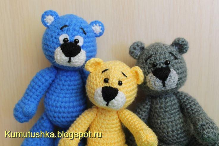 Вязаные чудеса от Марины Чучкаловой : Медвежонок (описание)