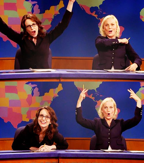 bitch is the new black. because bitches get stuff done. Amy Poehler and Tina Fey #SNL