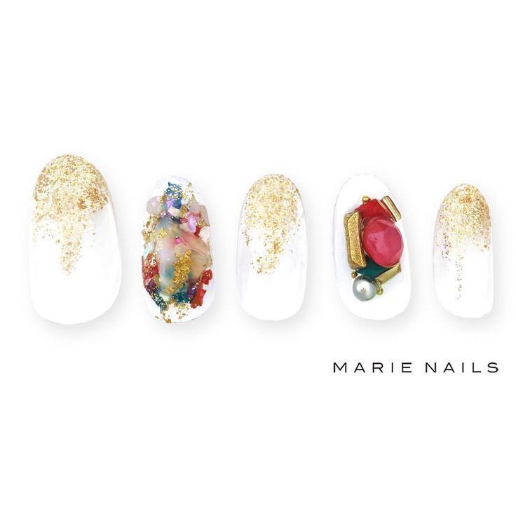 #マリーネイルズ #marienails #ネイルデザイン #かわいい #ネイル #kawaii #kyoto #ジェルネイル#trend #nail #toocute #pretty #nails #ファッション #naildesign #awsome #beautiful #nailart #tokyo #fashion #ootd #nailist #ネイリスト #ショートネイル #gelnails #instanails #marienails_hawaii #cool #gold...
