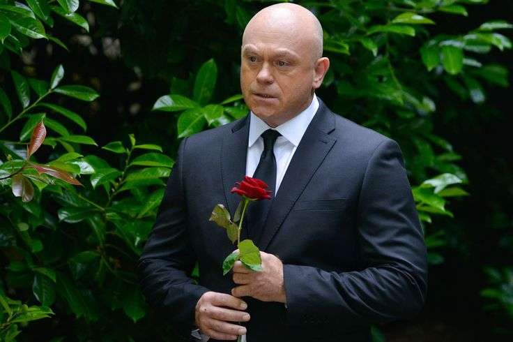 Grant Mitchell at Peggy's funeral in Eastenders