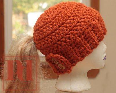 crochet hat with ponytail hole | Crochet hats & headbands ...
